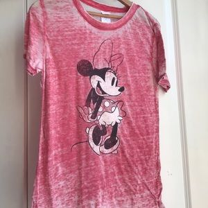 Super cute and fun light weight red Minnie T-shirt